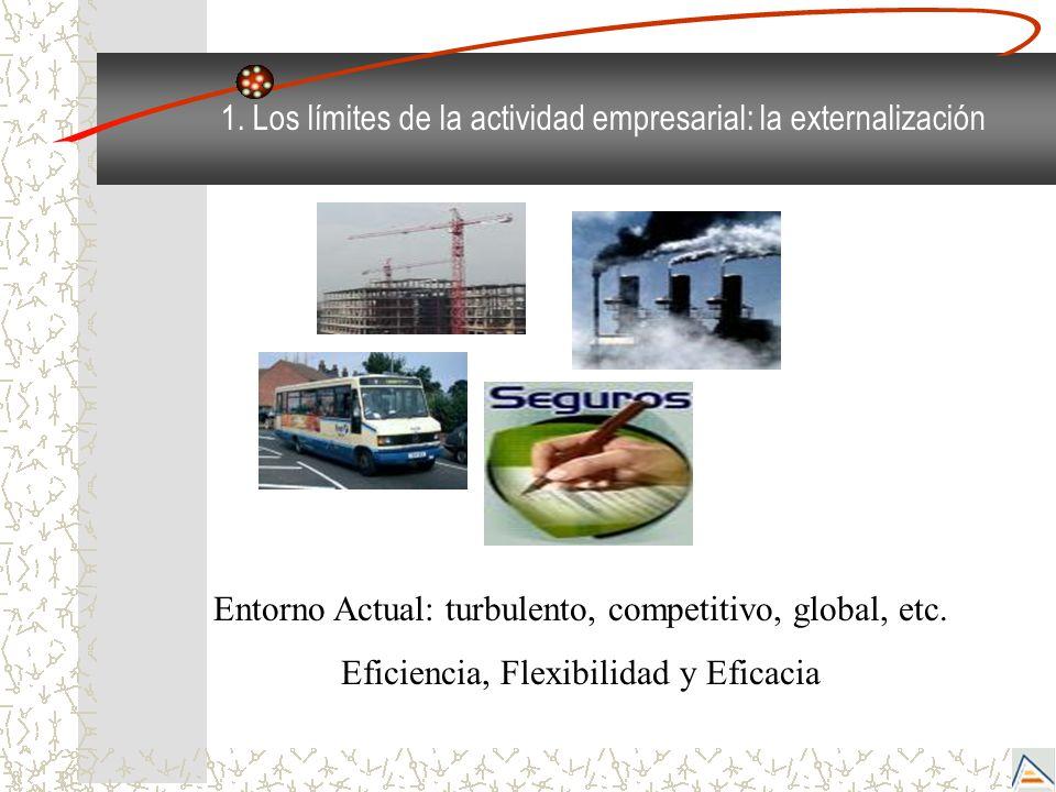 1. Los límites de la actividad empresarial: la externalización