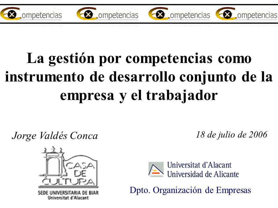 La gestión por competencias como instrumento de desarrollo conjunto de la empresa y el trabajador