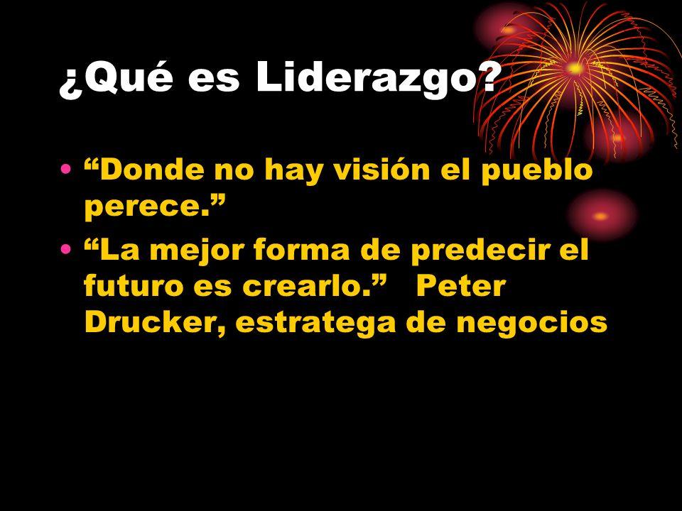 ¿Qué es Liderazgo Donde no hay visión el pueblo perece.