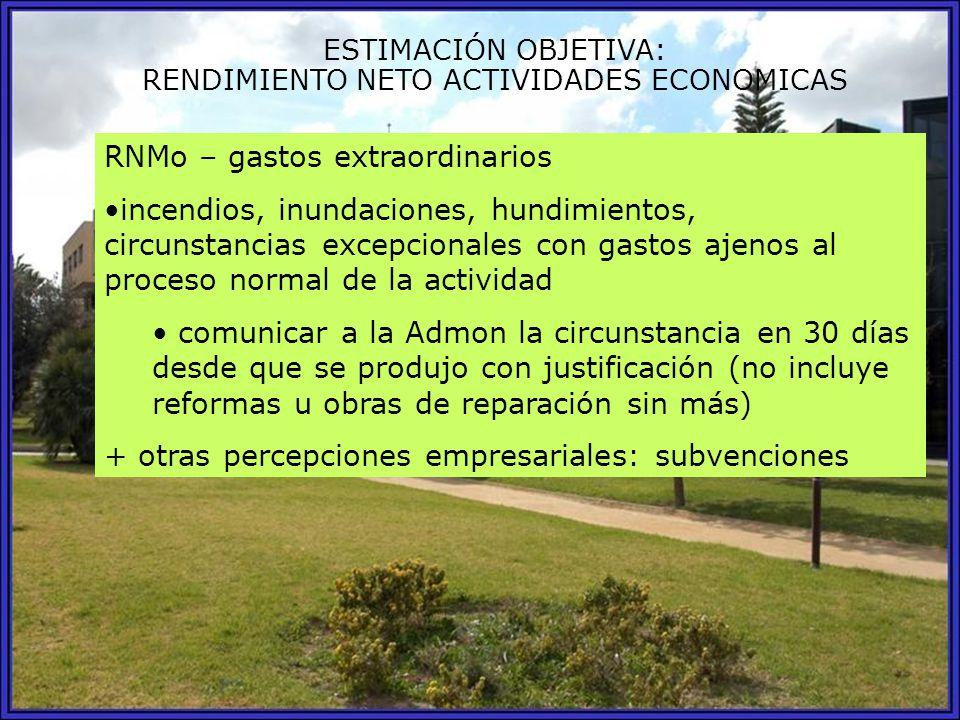 RENDIMIENTO NETO ACTIVIDADES ECONOMICAS