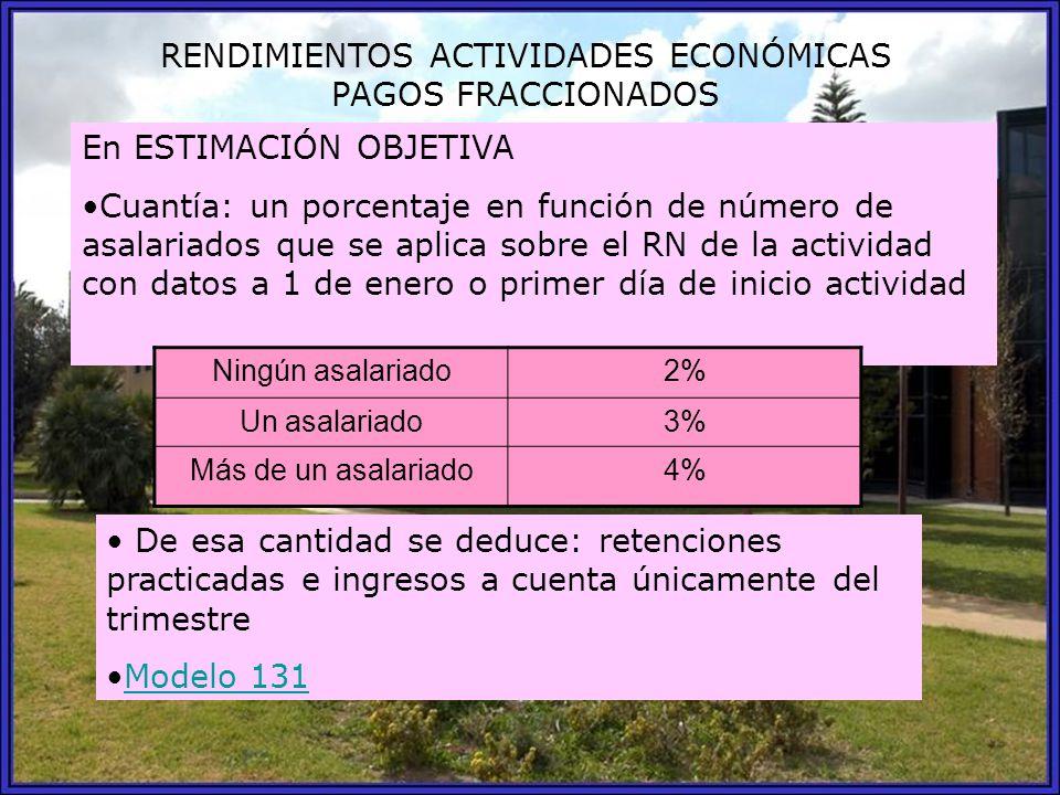 RENDIMIENTOS ACTIVIDADES ECONÓMICAS PAGOS FRACCIONADOS