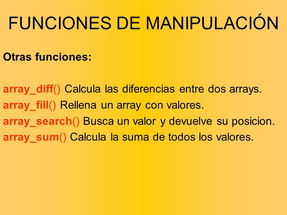 FUNCIONES DE MANIPULACIÓN