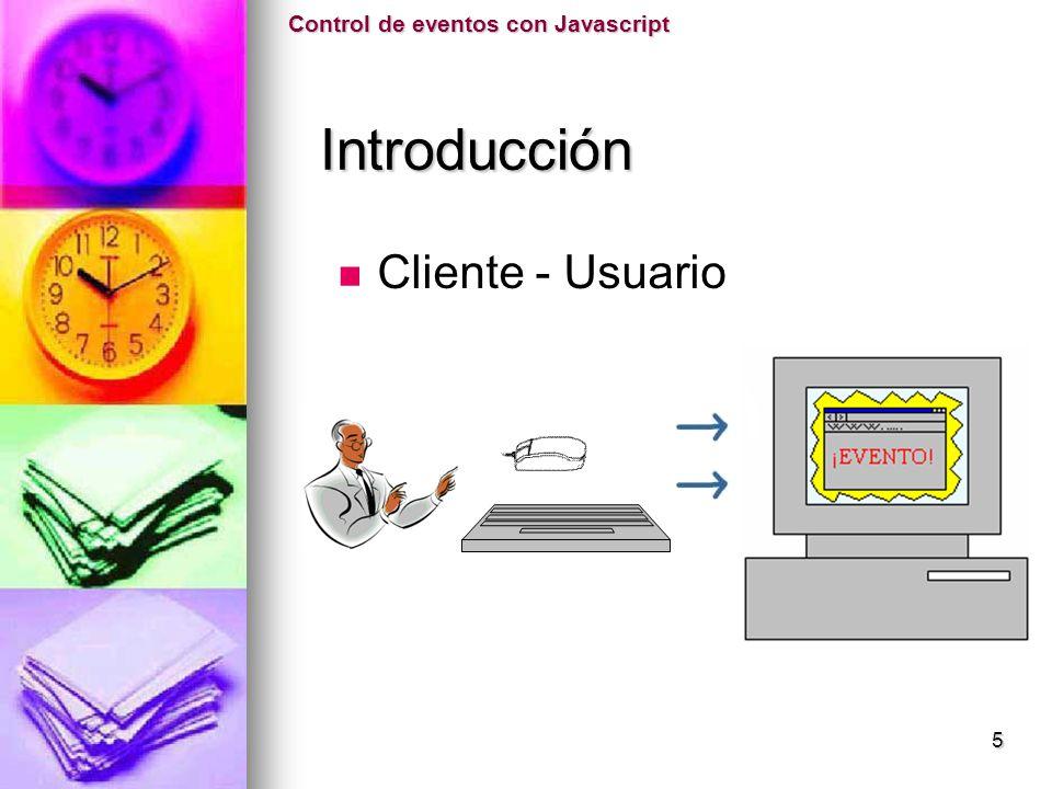 Control de eventos con Javascript