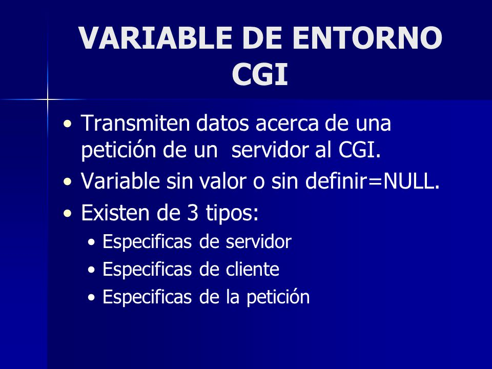 VARIABLE DE ENTORNO CGI