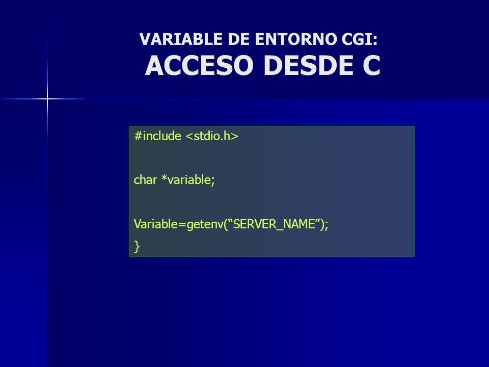 VARIABLE DE ENTORNO CGI: ACCESO DESDE C