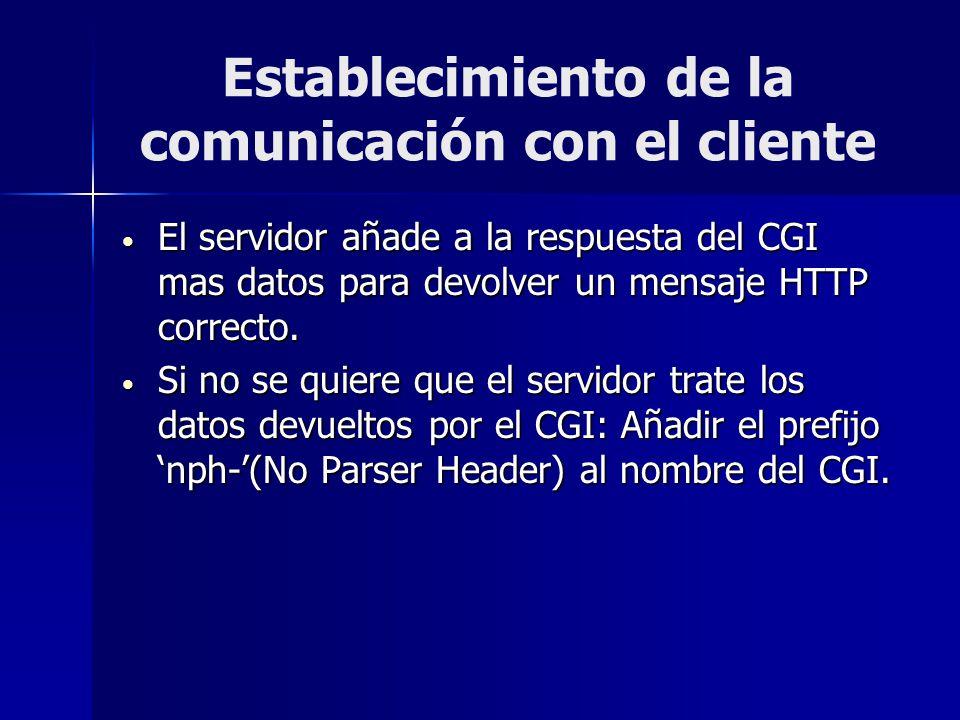 Establecimiento de la comunicación con el cliente