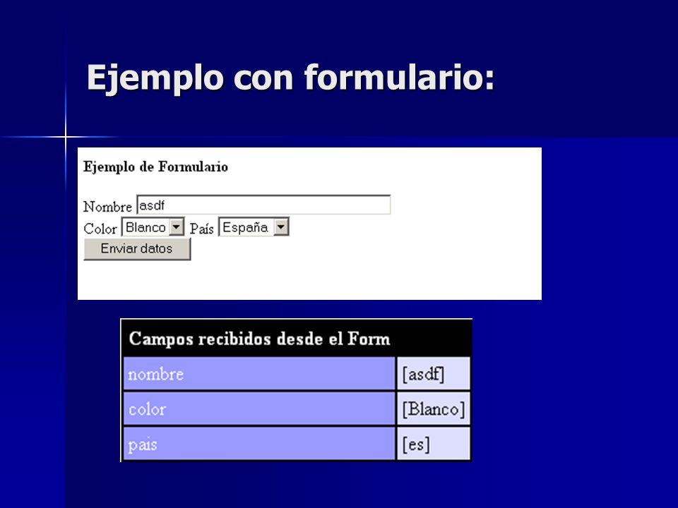Ejemplo con formulario: