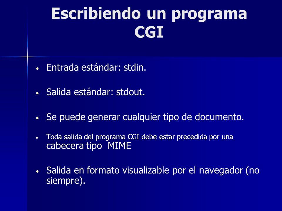 Escribiendo un programa CGI