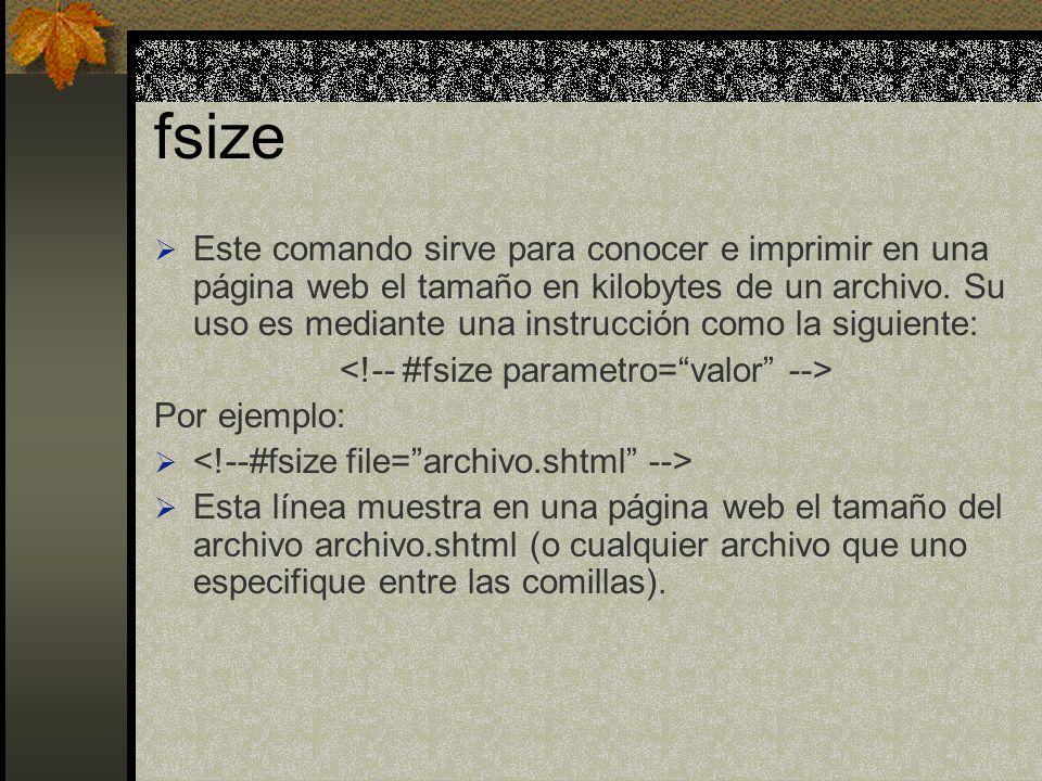 <!-- #fsize parametro= valor -->