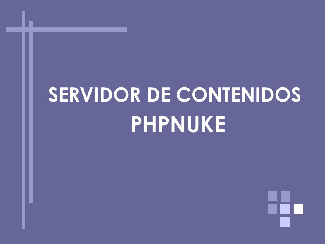 SERVIDOR DE CONTENIDOS