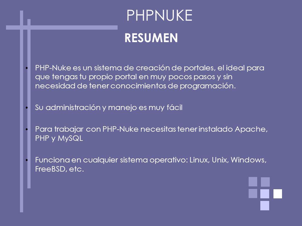 PHPNUKE RESUMEN.
