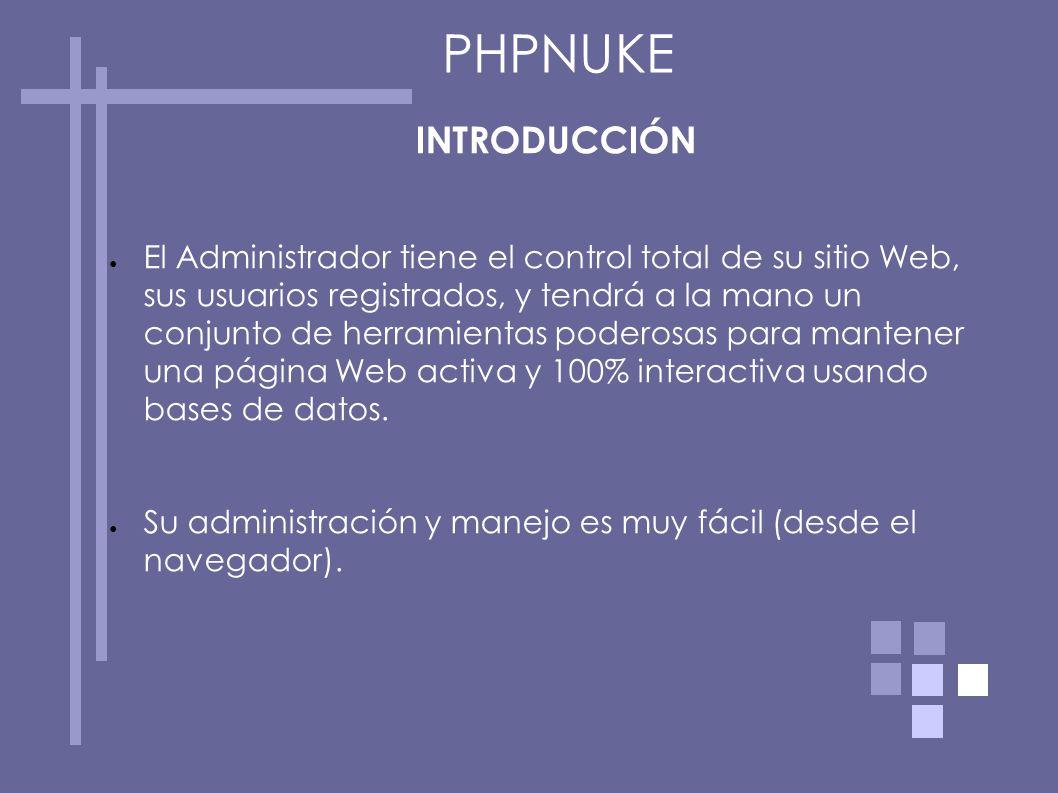 PHPNUKE INTRODUCCIÓN.
