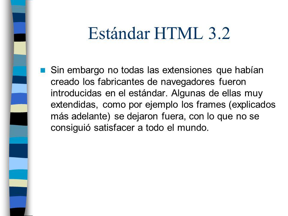 Estándar HTML 3.2