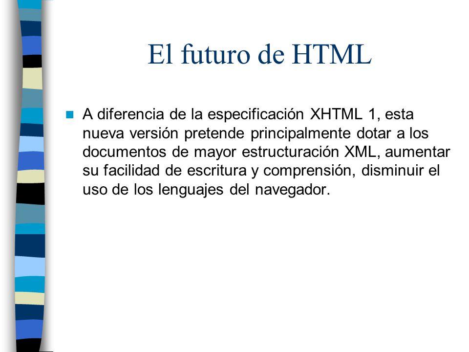 El futuro de HTML