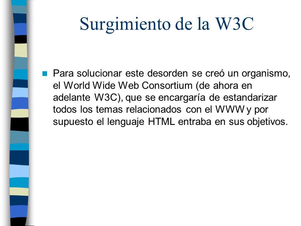 Surgimiento de la W3C