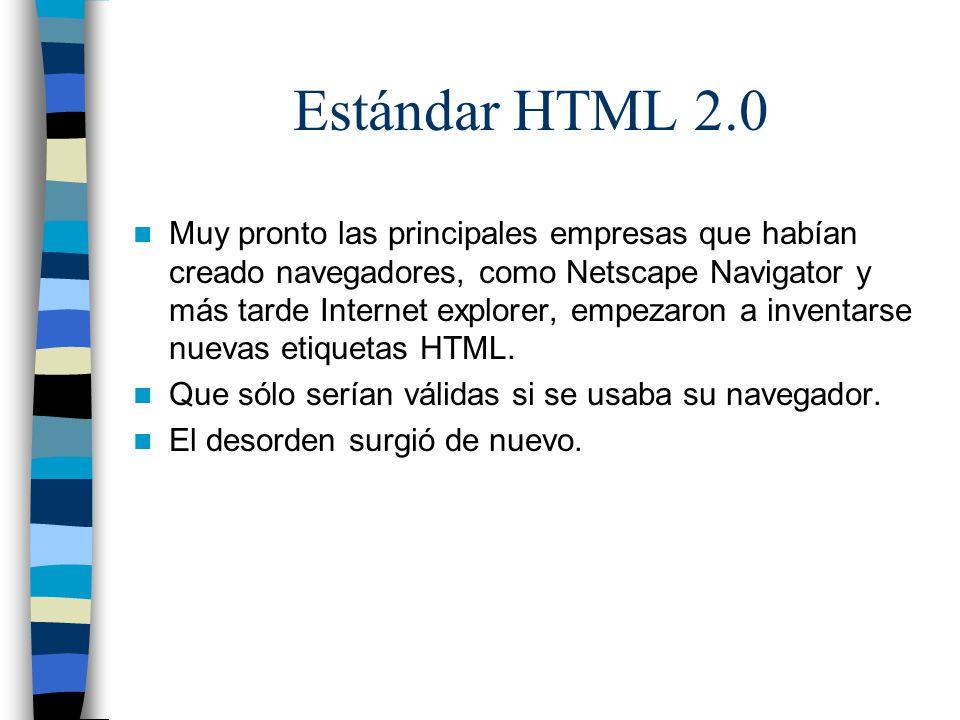 Estándar HTML 2.0