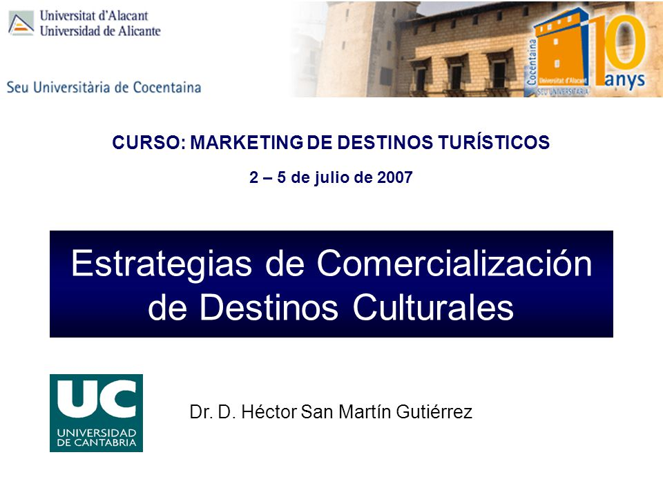 CURSO: MARKETING DE DESTINOS TURÍSTICOS