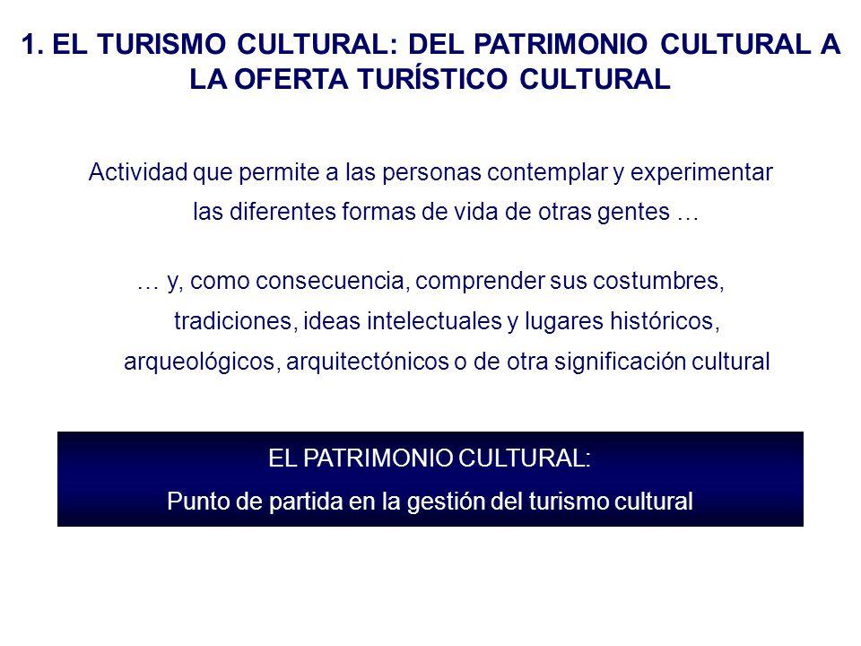 1. EL TURISMO CULTURAL: DEL PATRIMONIO CULTURAL A LA OFERTA TURÍSTICO CULTURAL