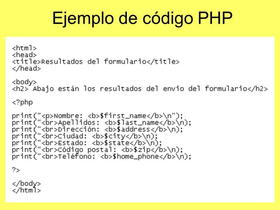 Ejemplo de código PHP