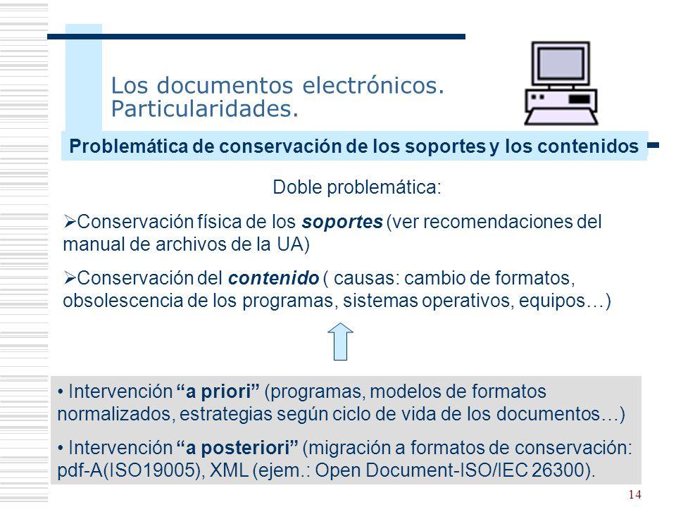 Los documentos electrónicos. Particularidades.