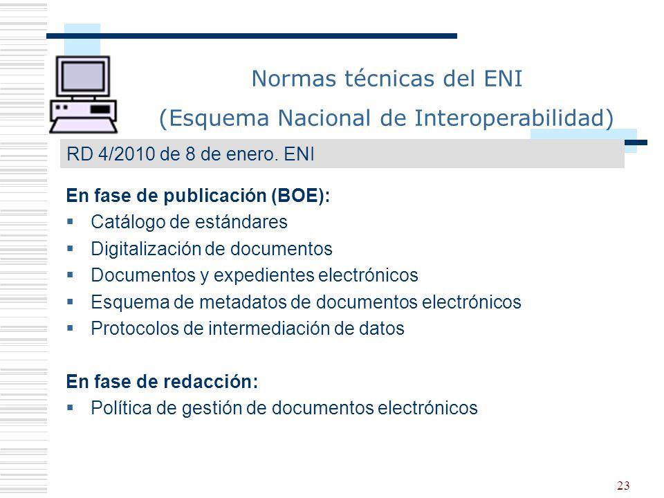 Normas técnicas del ENI (Esquema Nacional de Interoperabilidad)