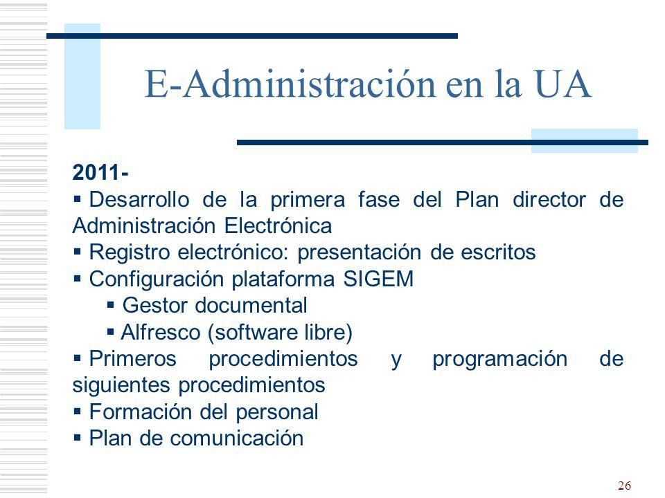 E-Administración en la UA