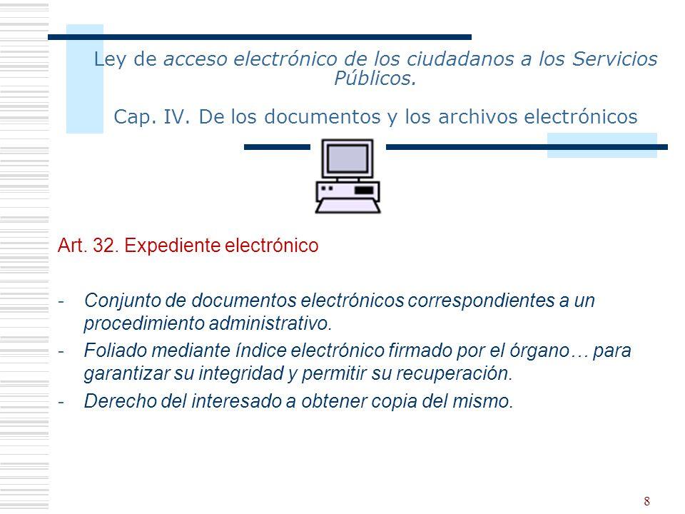 Ley de acceso electrónico de los ciudadanos a los Servicios Públicos