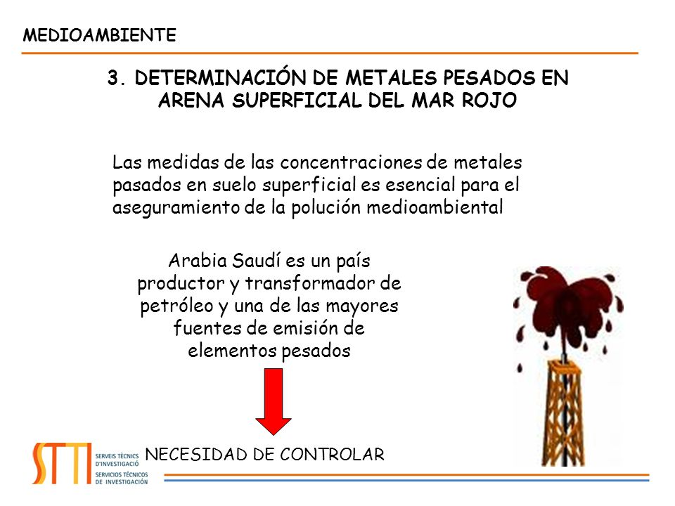 3. DETERMINACIÓN DE METALES PESADOS EN ARENA SUPERFICIAL DEL MAR ROJO