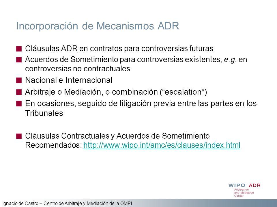 Incorporación de Mecanismos ADR