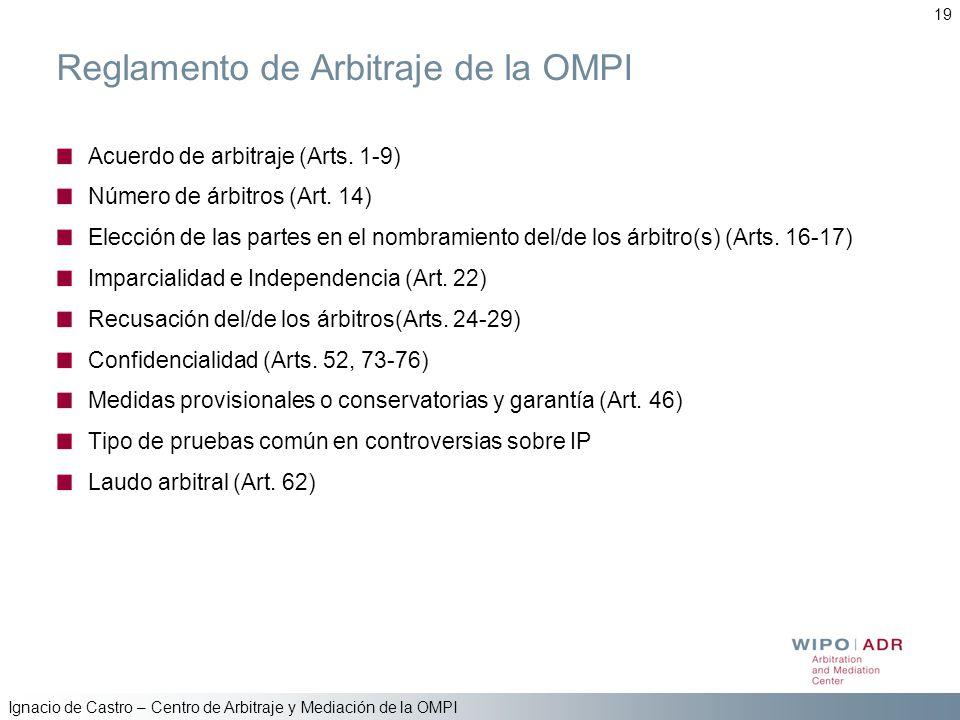 Reglamento de Arbitraje de la OMPI