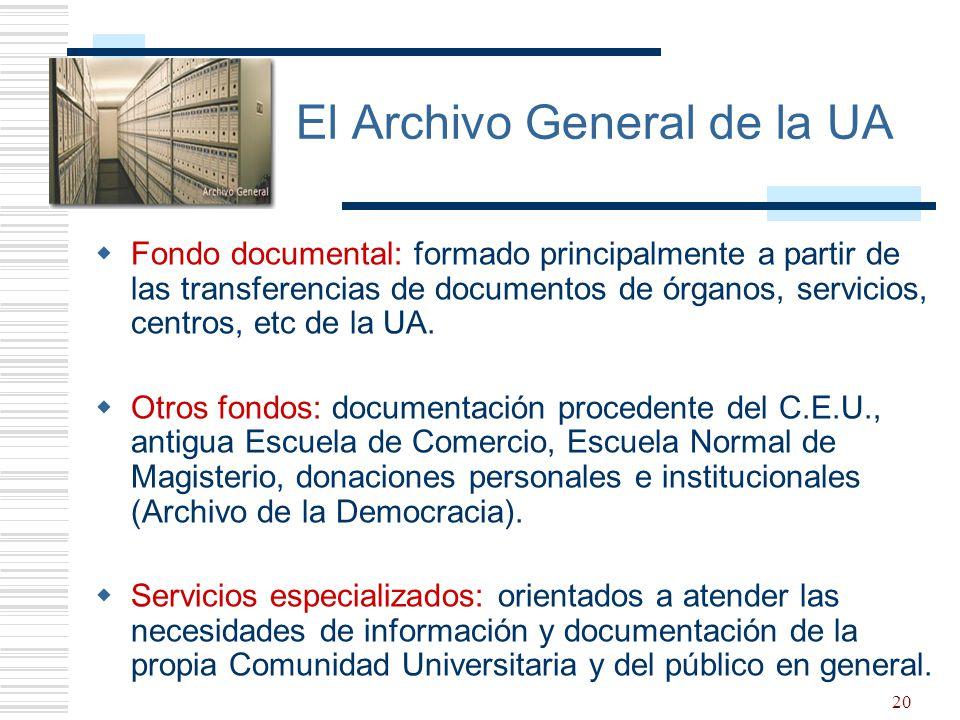 El Archivo General de la UA