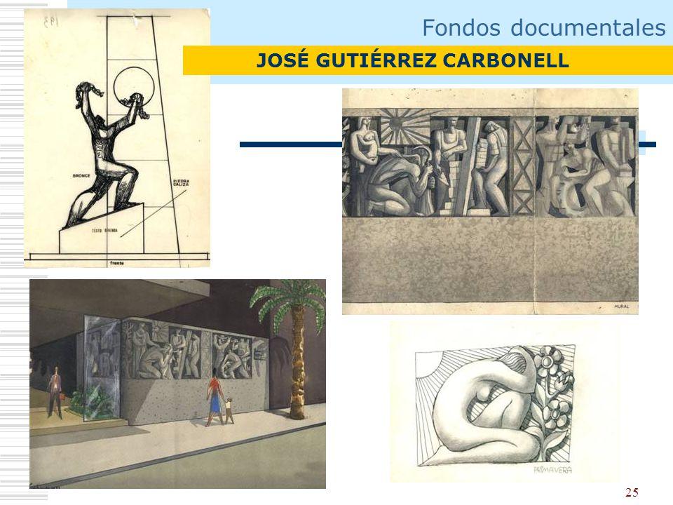 Fondos documentales JOSÉ GUTIÉRREZ CARBONELL
