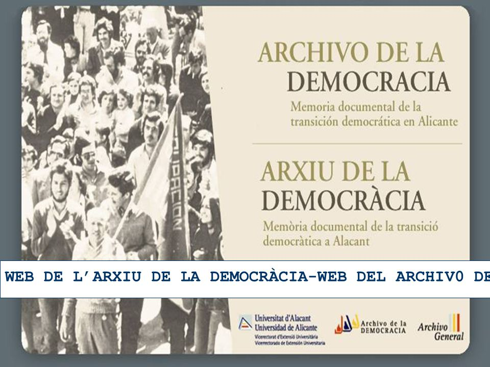 WEB DE L'ARXIU DE LA DEMOCRÀCIA-WEB DEL ARCHIV0 DE