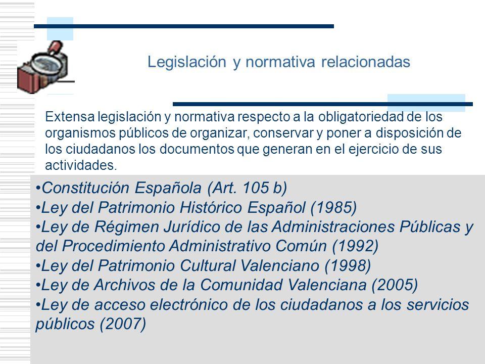 Legislación y normativa relacionadas