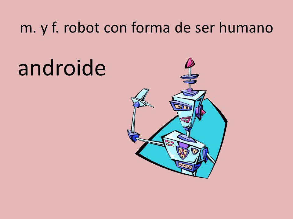 m. y f. robot con forma de ser humano