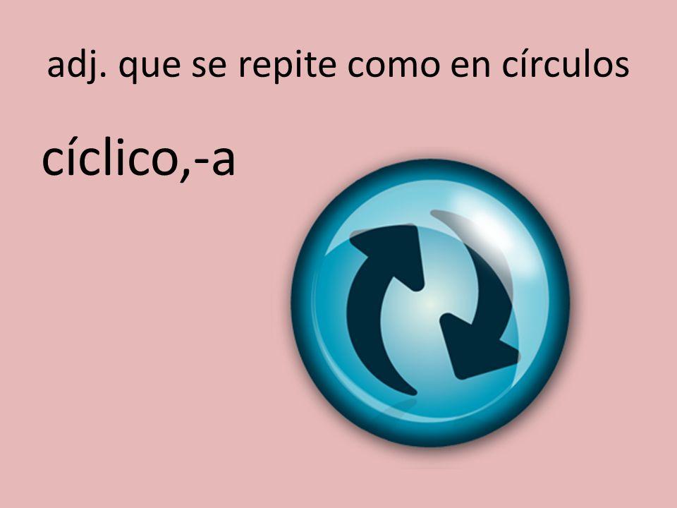 adj. que se repite como en círculos