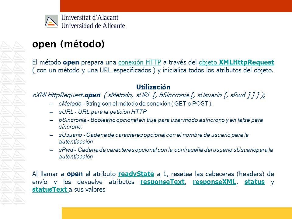 open (método)