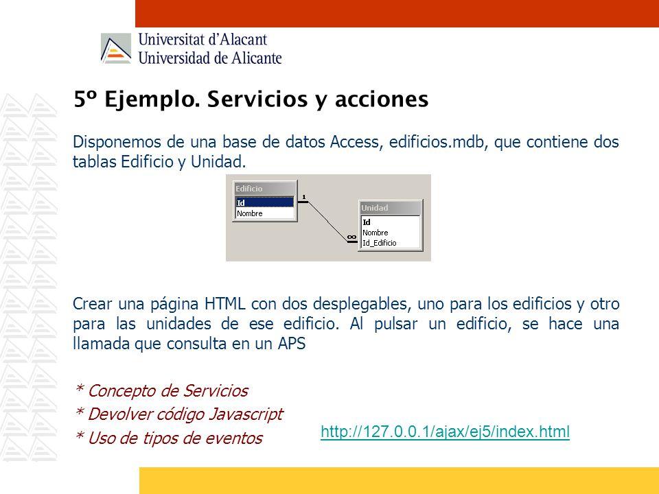 5º Ejemplo. Servicios y acciones