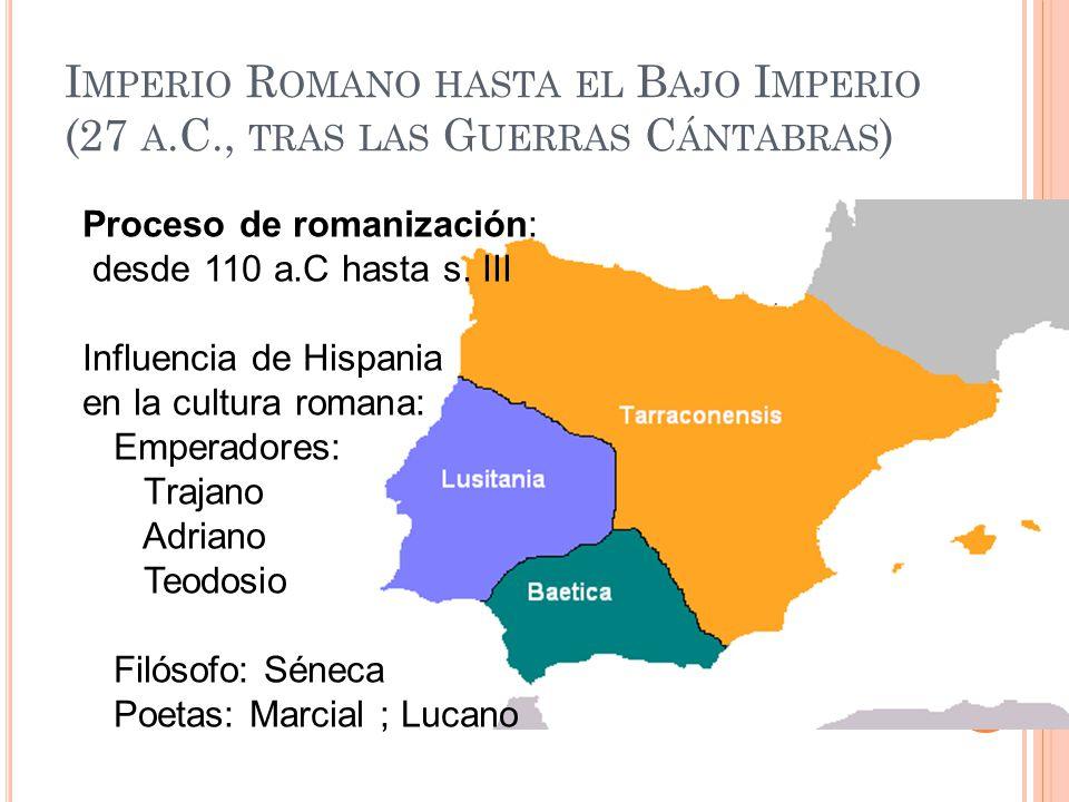 Imperio Romano hasta el Bajo Imperio (27 a. C