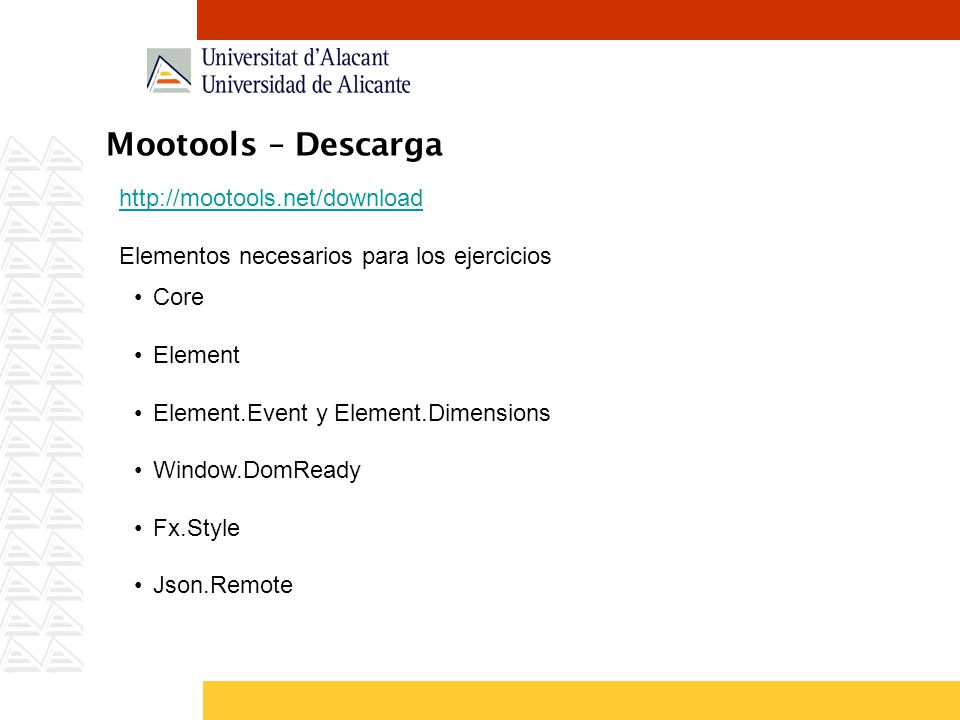Mootools – Descarga http://mootools.net/download