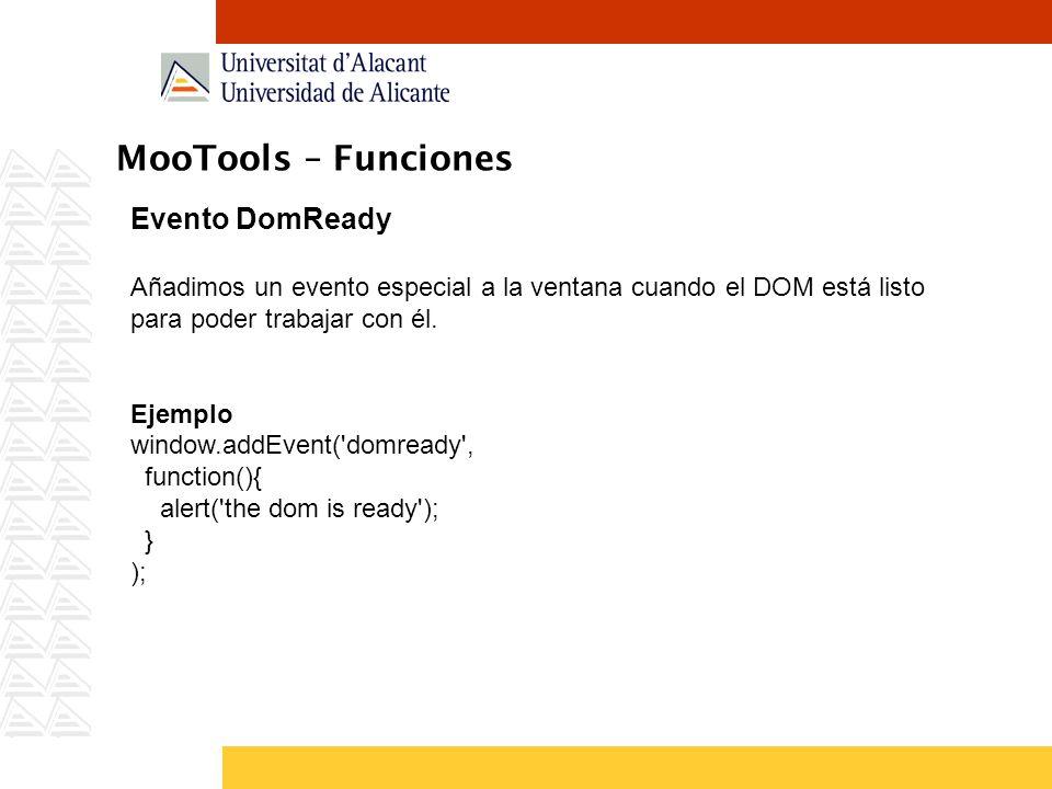 MooTools – Funciones Evento DomReady