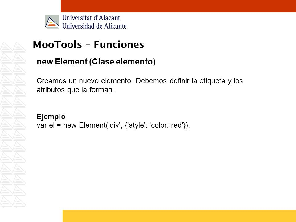MooTools – Funciones new Element (Clase elemento)