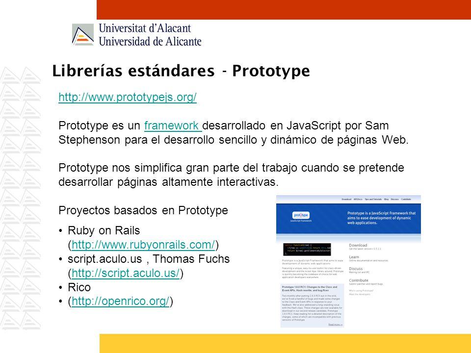 Librerías estándares - Prototype