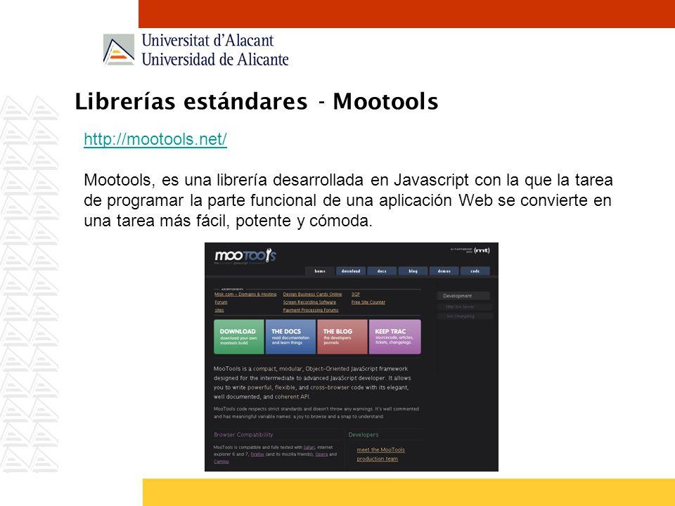 Librerías estándares - Mootools