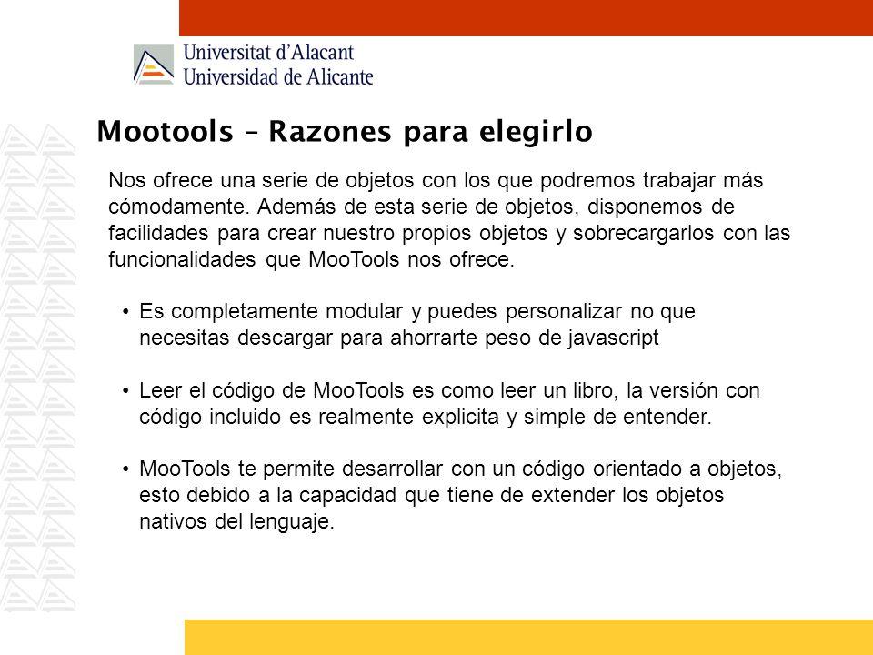 Mootools – Razones para elegirlo