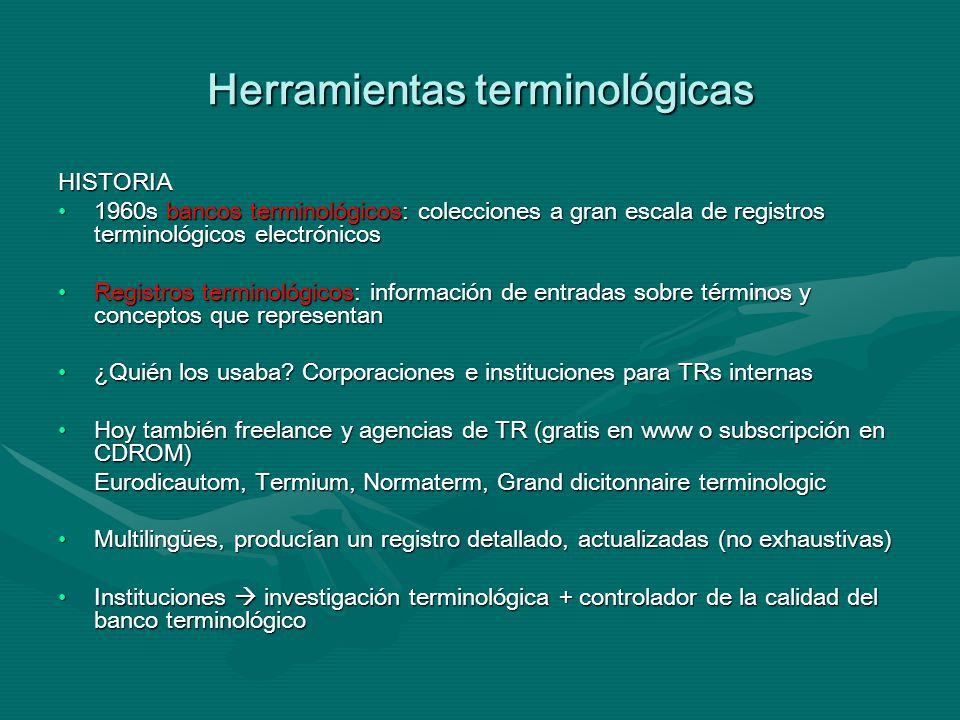 Herramientas terminológicas