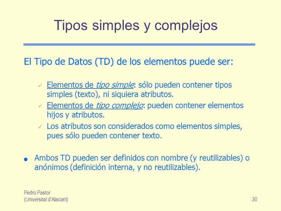Tipos simples y complejos