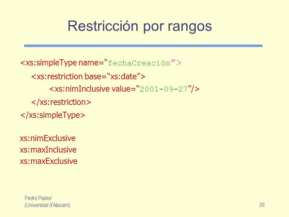 Restricción por rangos
