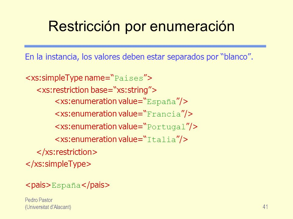 Restricción por enumeración