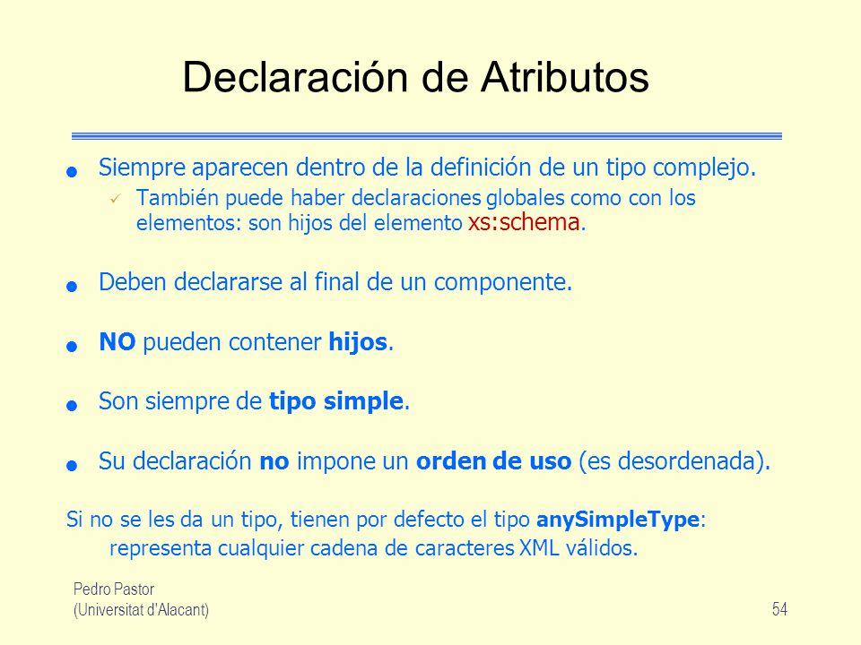 Declaración de Atributos